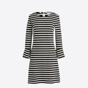 nwt jcrew bell sleeve striped dress h1378